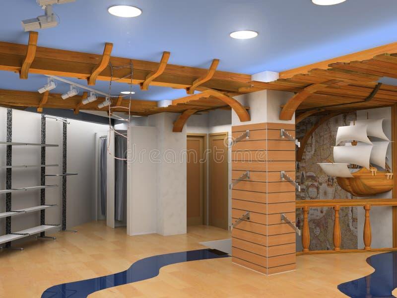 Interior da loja ilustração do vetor