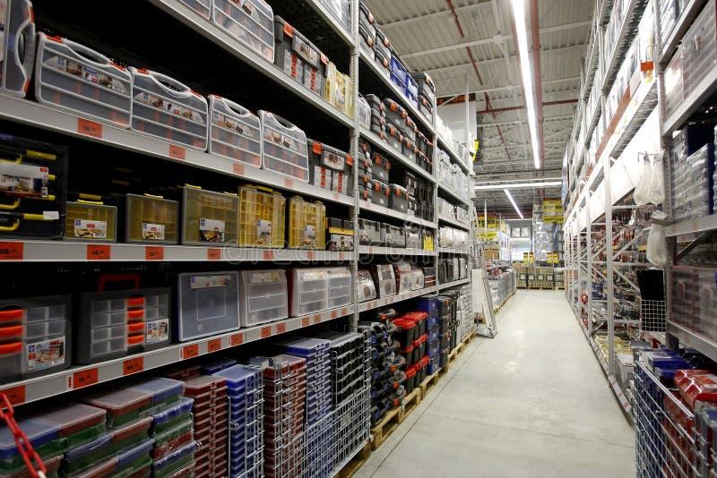 Interior da loja de ferragem fotografia de stock royalty free