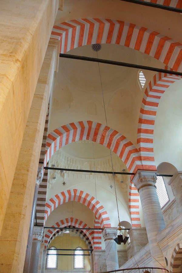 Interior da mesquita de Suleymanie imagens de stock royalty free