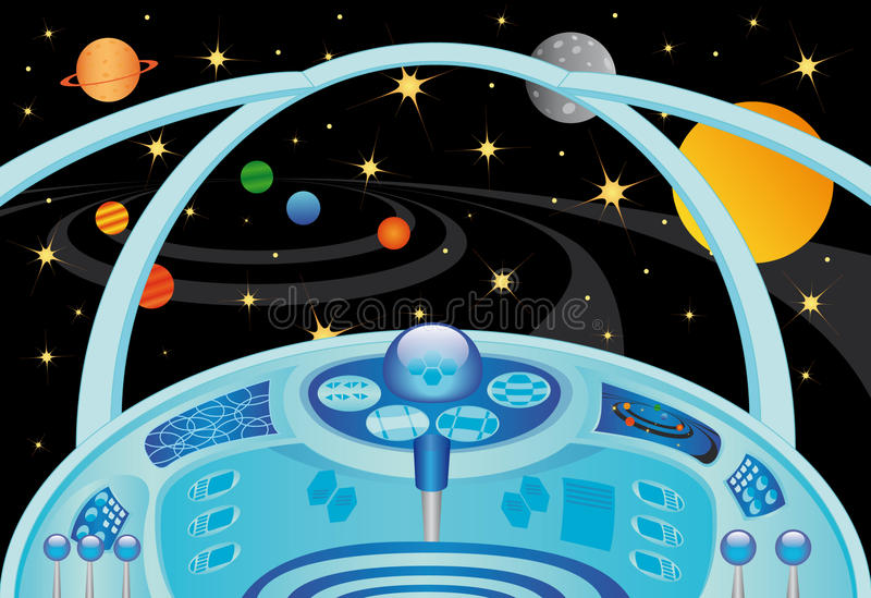 Interior da nave espacial ilustra o do vetor ilustra o for Interior nave espacial