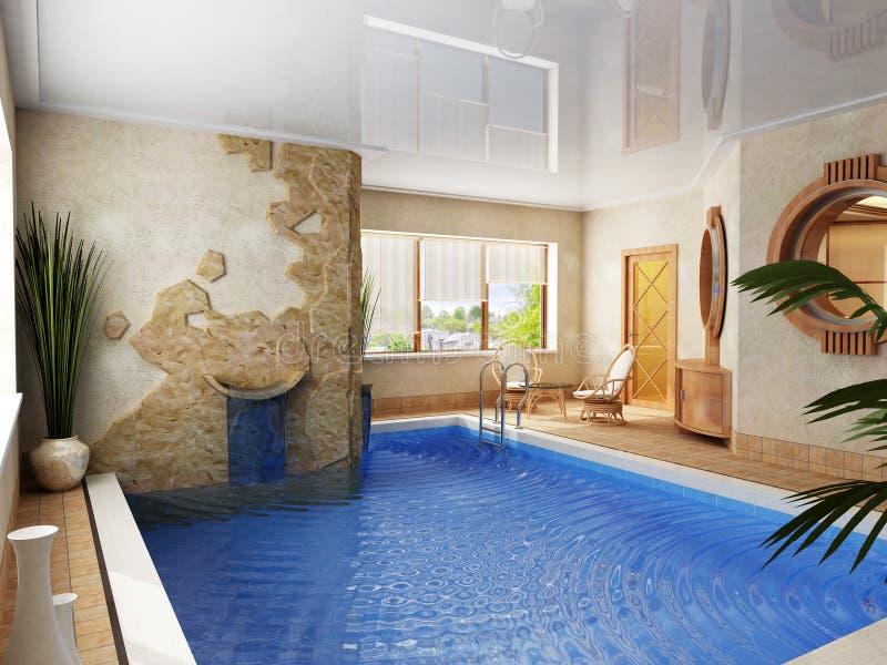 Interior da piscina ilustração do vetor