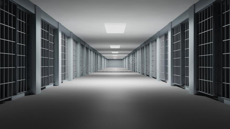 Interior da prisão ilustração stock