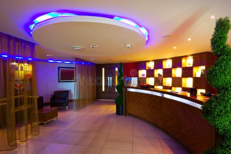 Interior da recepção dos TERMAS imagens de stock royalty free