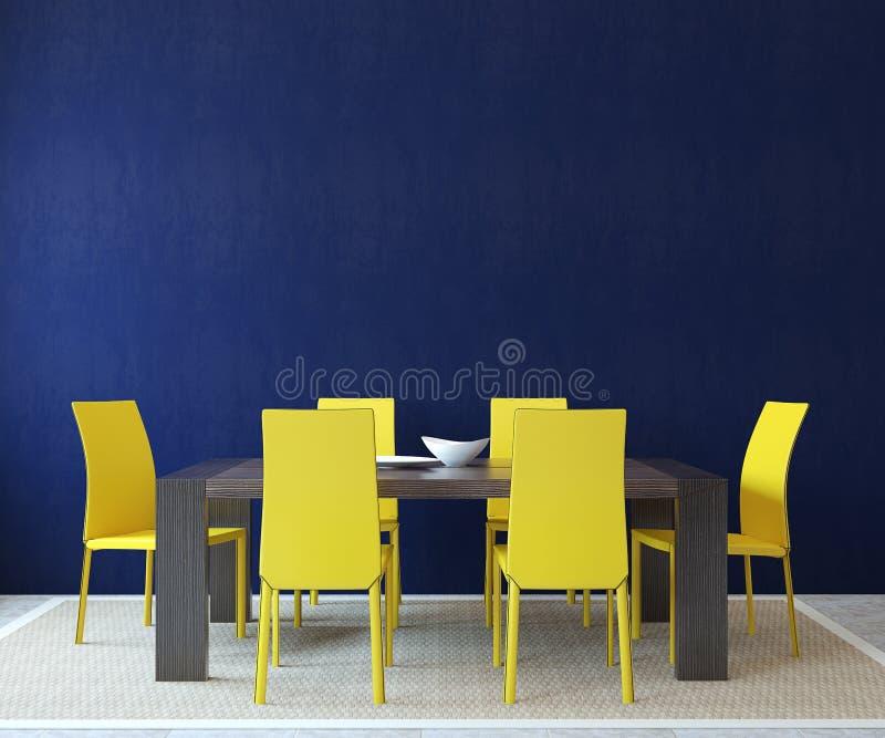 Interior da sala de jantar. ilustração royalty free