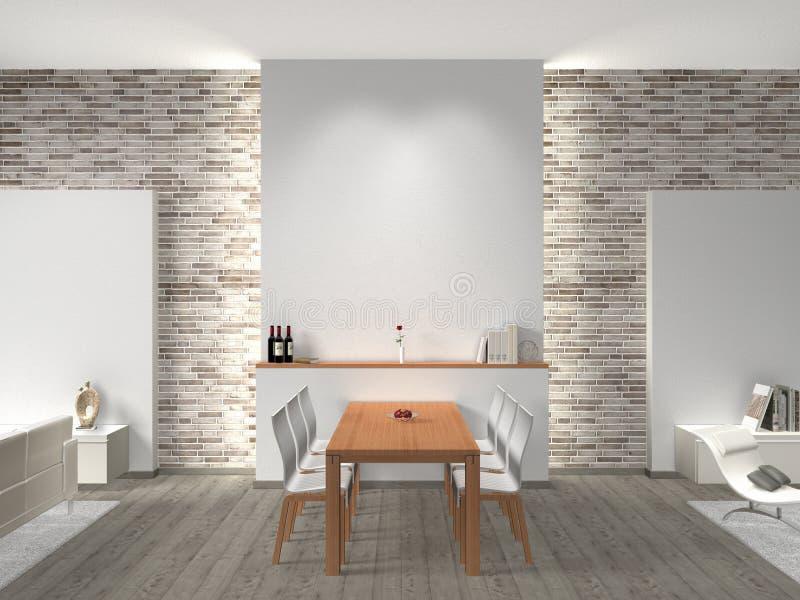 Interior da sala de jantar ilustração stock