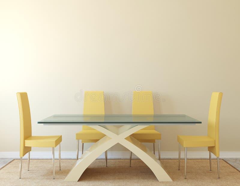 Interior da sala de jantar ilustração do vetor