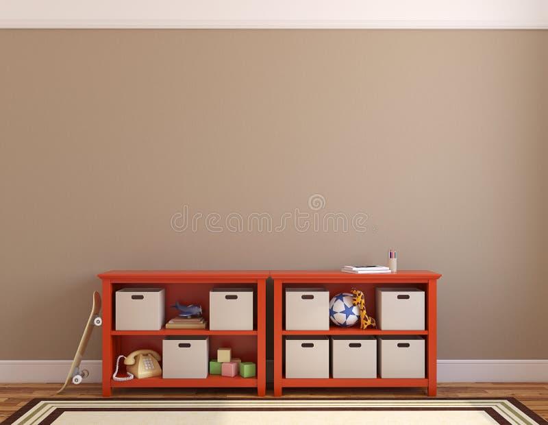 Interior da sala de jogos. ilustração stock