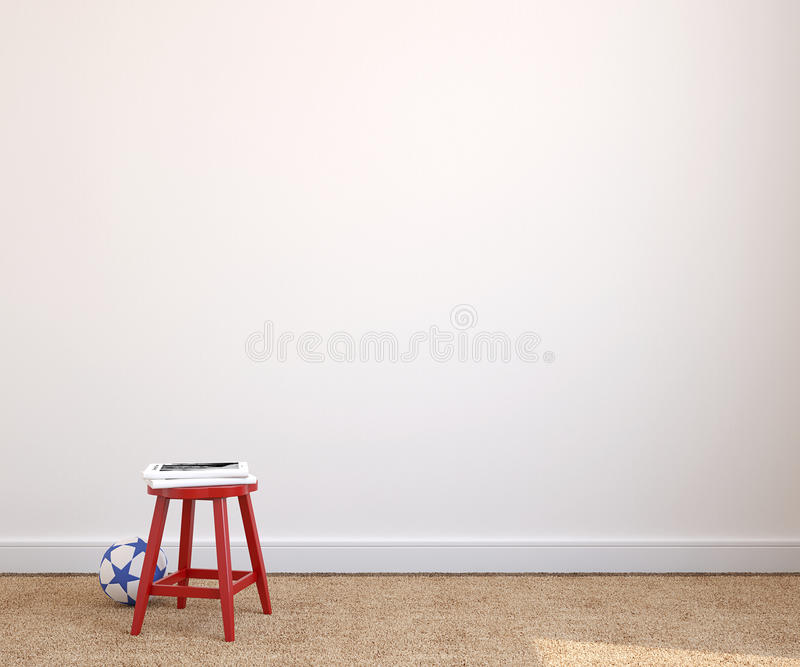 Interior da sala de jogos. ilustração do vetor