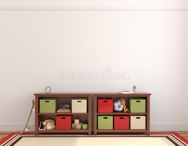 Interior da sala de jogos. ilustração royalty free