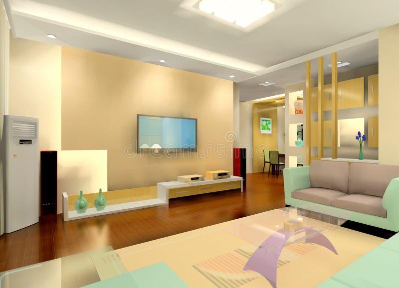 Interior da sala de visitas ilustração royalty free