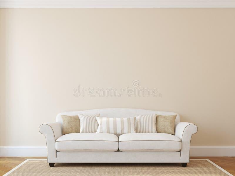 Interior da sala de visitas. ilustração royalty free