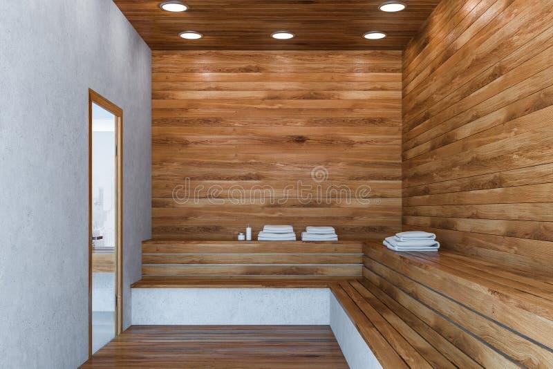 Interior da sauna moderna ilustração royalty free