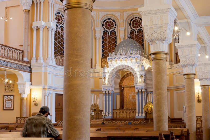Interior da sinagoga foto de stock