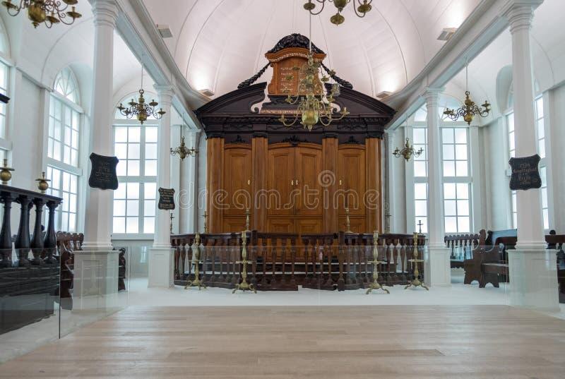 Interior da sinagoga de Tzedek VE-Shalom imagens de stock royalty free