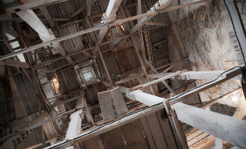 Interior da torre velha imagens de stock