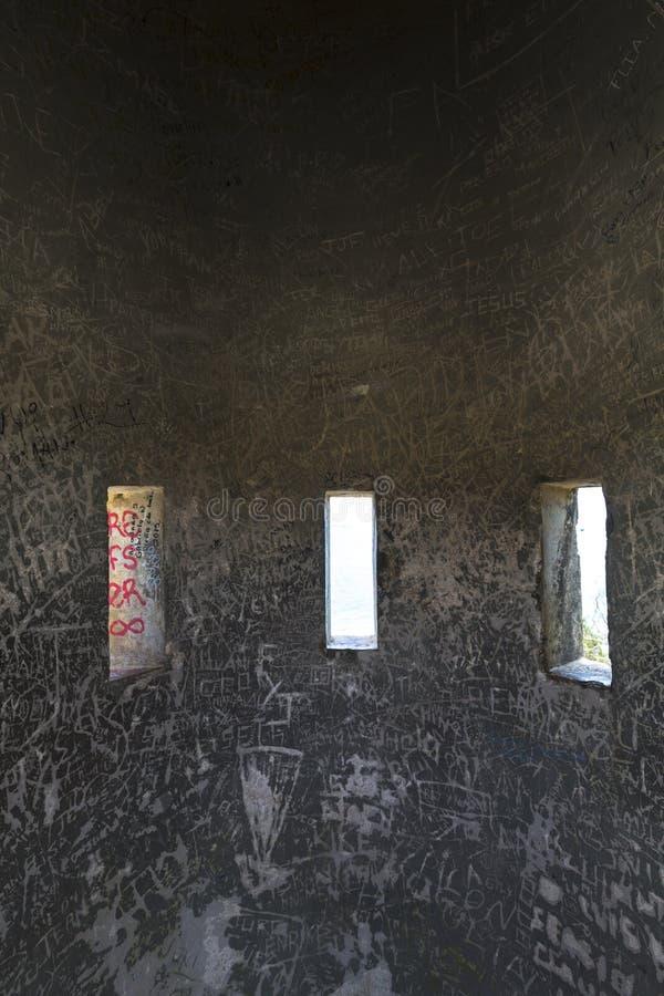 Interior da torreta de Pampatar, Venezuela imagem de stock