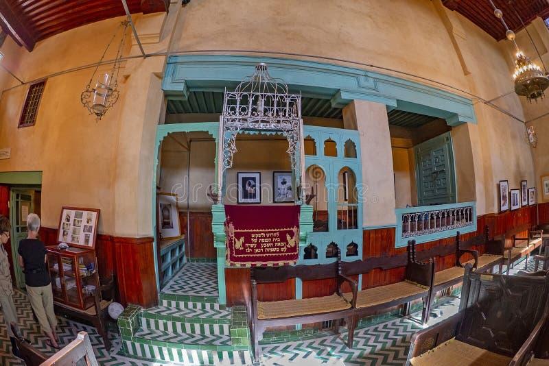 Interior de Abn Danan Synagogue fotos de stock royalty free