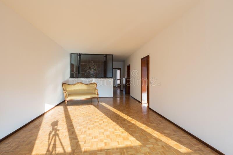Interior de apartamentos, sitio vacío fotografía de archivo