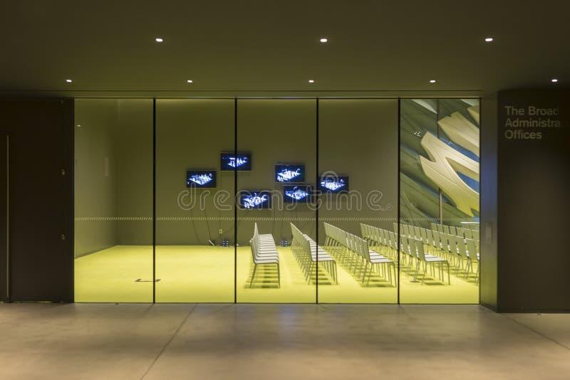 Interior de Art Museum contemporáneo amplio imagen de archivo libre de regalías