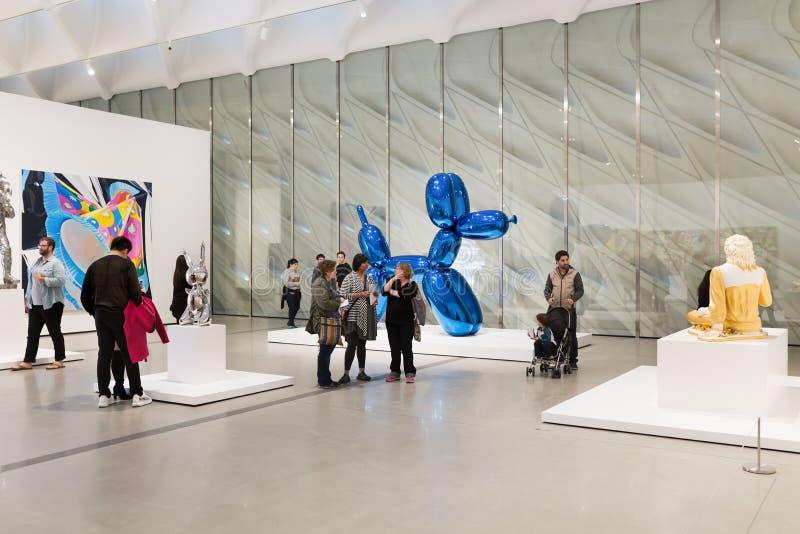 Interior de Art Museum contemporáneo amplio fotografía de archivo