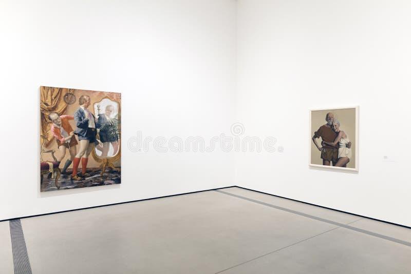 Interior de Art Museum contemporáneo amplio imágenes de archivo libres de regalías