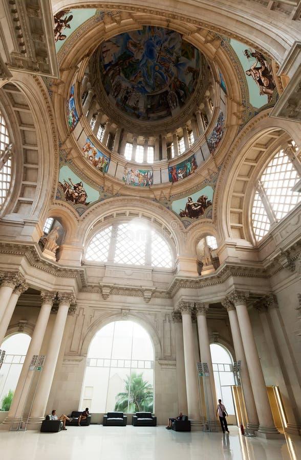 Interior de Art Museum nacional de Catalonia imagem de stock royalty free