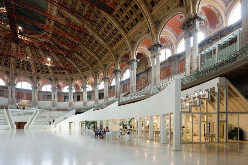 Interior de Art Museum nacional de Catalonia imagens de stock