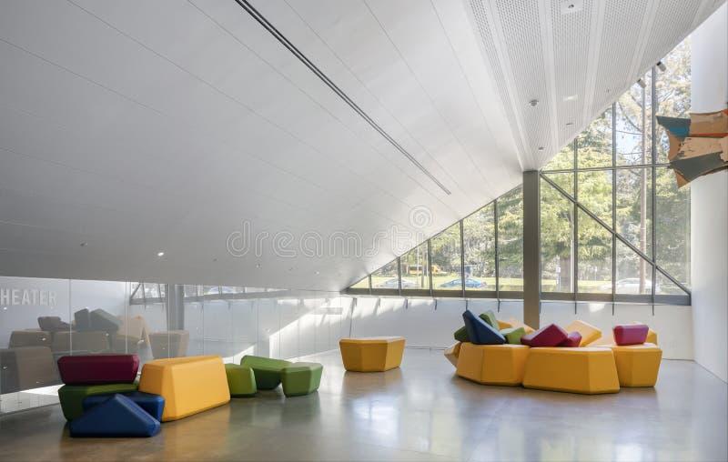 Interior de Berkeley Art Museum e do arquivo pacífico do filme foto de stock