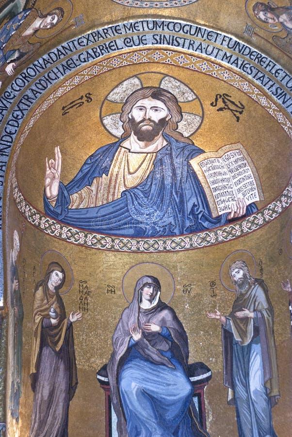Interior de Cappella Palatina imagen de archivo libre de regalías