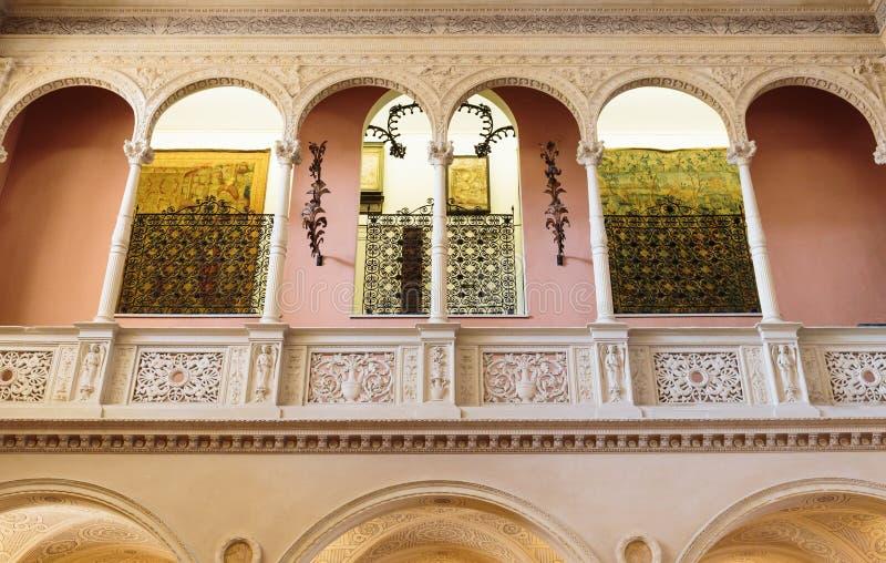 Interior de Casa de campo Ephrussi de Rothschild foto de stock