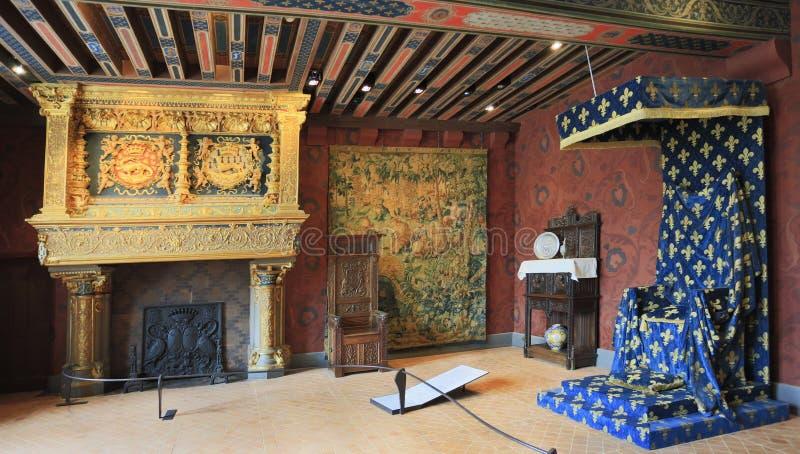 Interior de Castelo de Blois, França imagens de stock royalty free