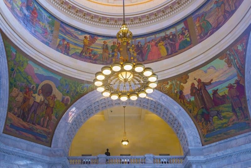 Interior de construção do Capitólio do estado de Utá imagem de stock