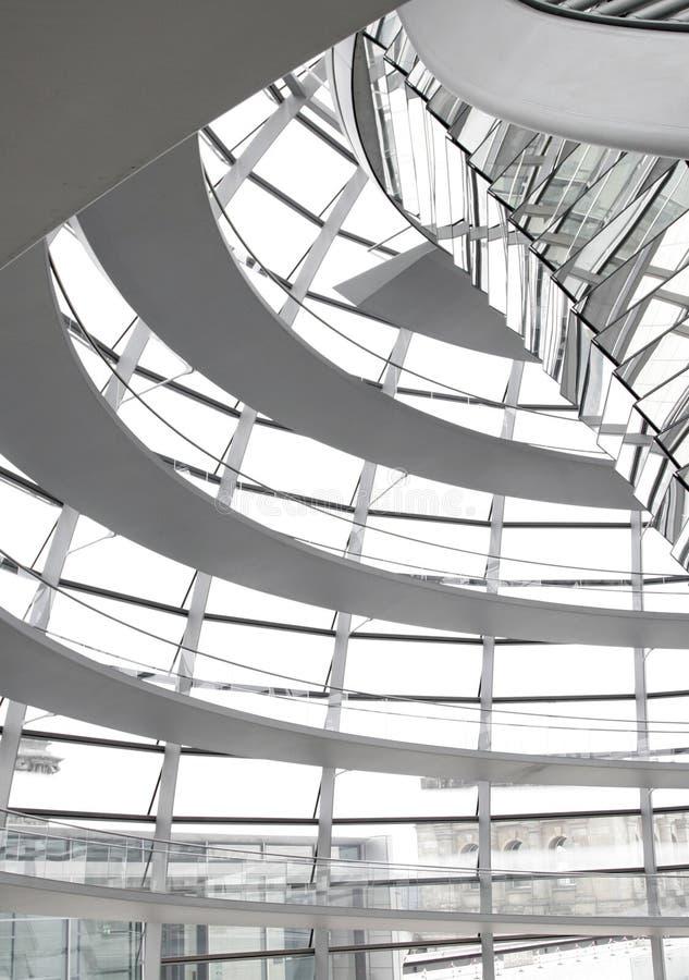 Interior de cristal de la bóveda fotos de archivo libres de regalías