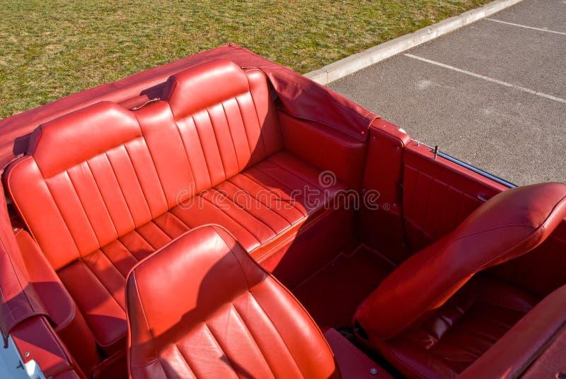 Interior de cuero del coche foto de archivo libre de regalías