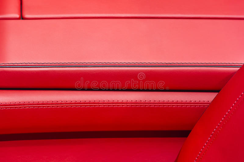 Interior de cuero del coche imágenes de archivo libres de regalías