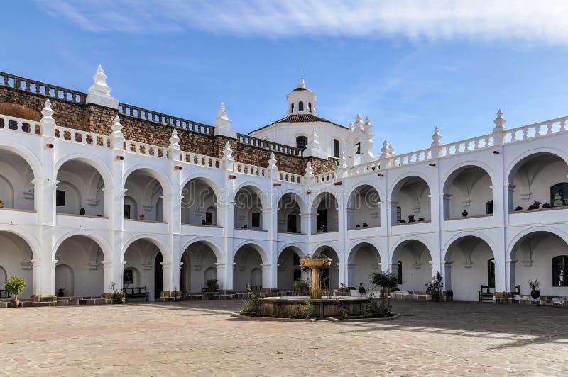 Interior de Felipe Neri Monsastery, sucre, Bolívia imagens de stock royalty free