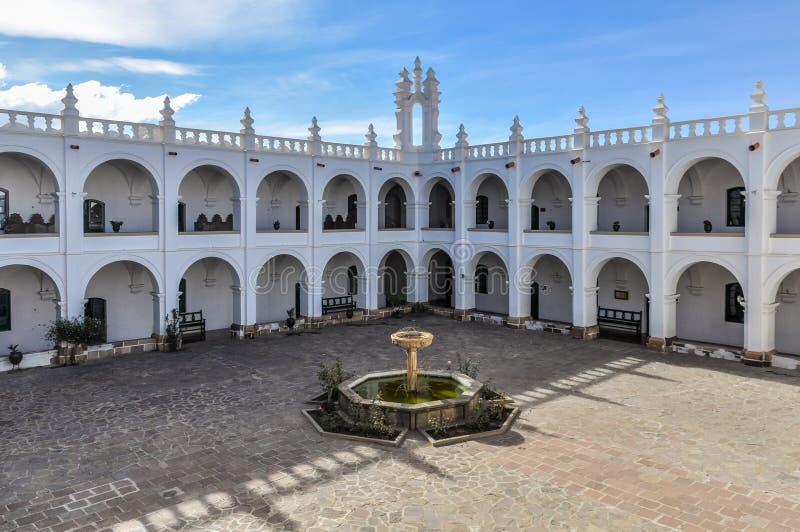 Interior de Felipe Neri Monsastery, sucre, Bolívia foto de stock