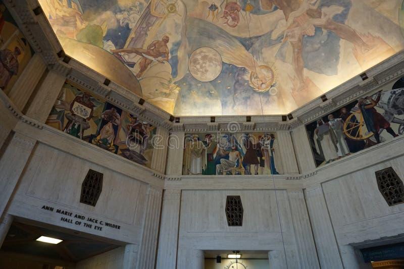 Interior de Griffith Observatory en Los Ángeles, fotos de archivo