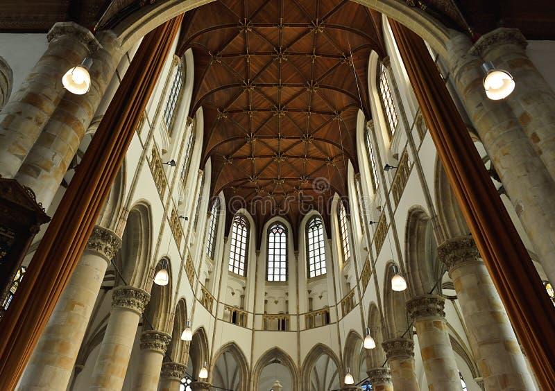 Interior de Grote Kerk Den Haag imagem de stock