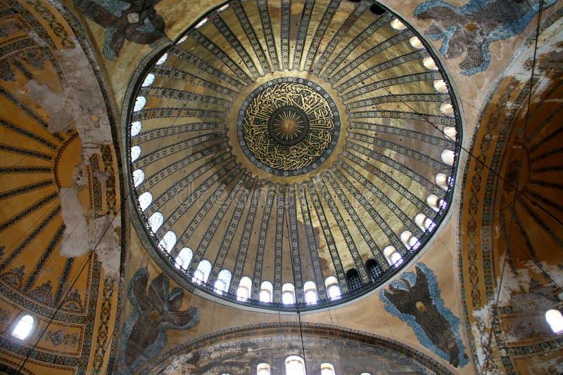Interior de Hagia Sophia imagens de stock