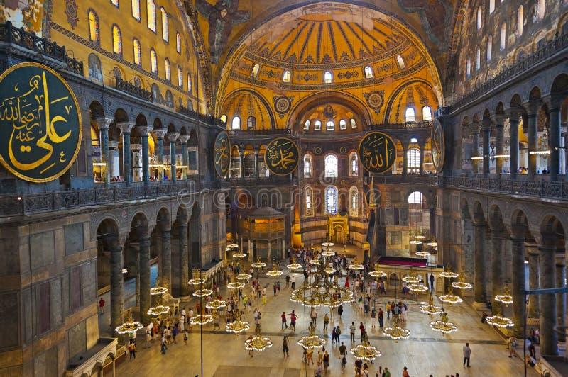 Interior de Hagia Sophia em Istambul Turquia fotografia de stock royalty free