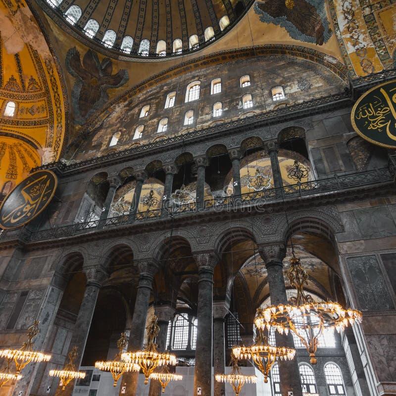 Interior de Hagia Sophia em Istambul Turquia - fundo da arquitetura fotos de stock