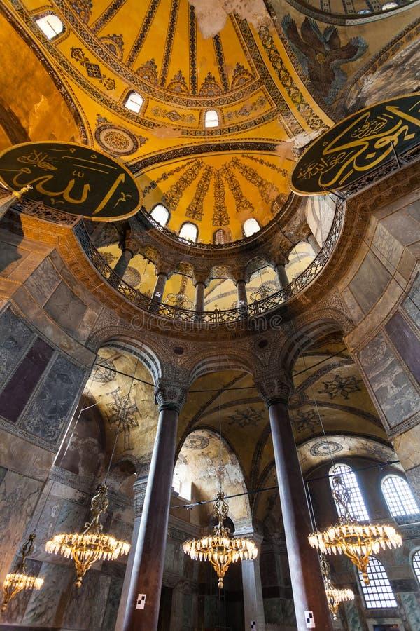 Interior de Hagia Sophia em Istambul Turquia - fundo da arquitetura foto de stock
