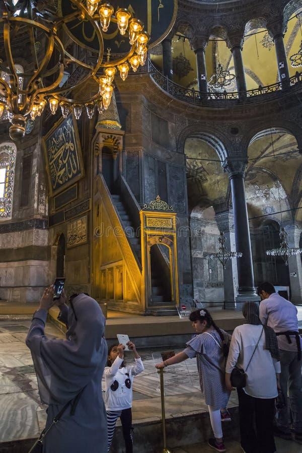 Interior de Hagia Sophia, Estambul foto de archivo libre de regalías
