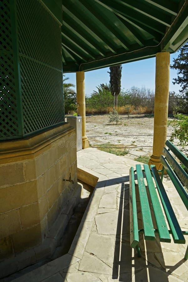 Interior de Hala Sultan Tekke Mosque cerca de Larnaca, Chipre imagen de archivo libre de regalías