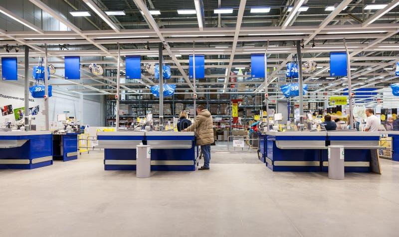 Interior de IKEA Samara Store fotografía de archivo