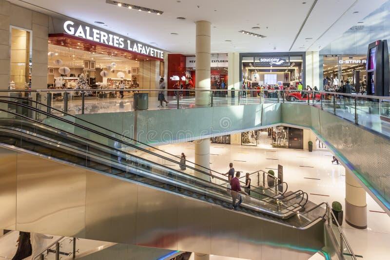 Interior de la alameda de Dubai fotos de archivo libres de regalías