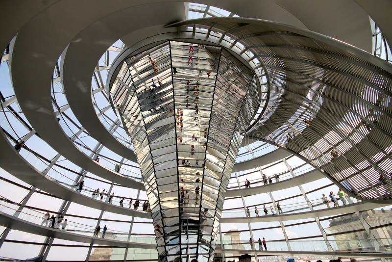 Interior de la bóveda de Reichstag foto de archivo libre de regalías