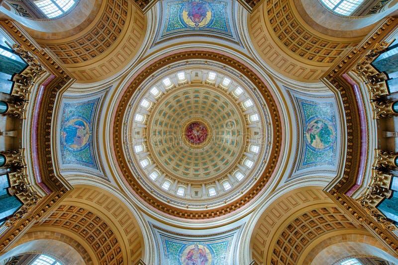 Interior de la bóveda del capitolio imagen de archivo libre de regalías