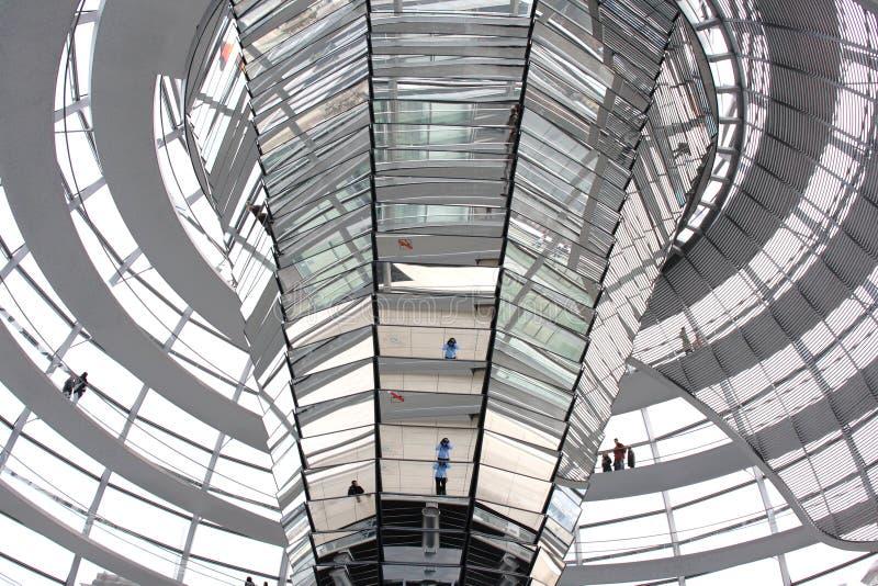 Interior de la b?veda de Reichstag foto de archivo libre de regalías
